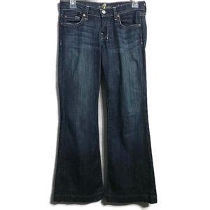 7FAM Dark Wash Dojo Jeans Size 24